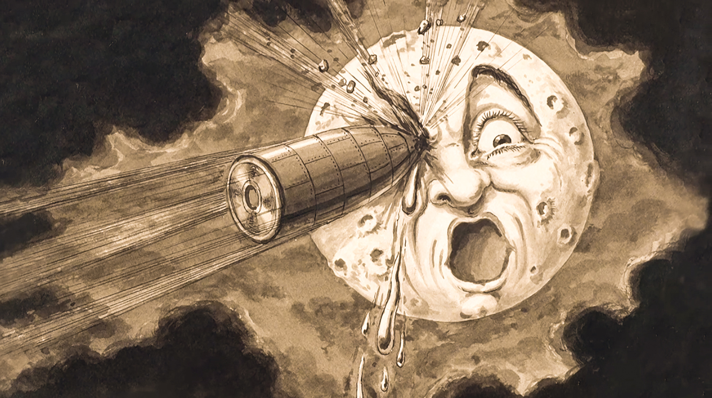Original artwork from Georges Méliès's  A Trip to the Moon.