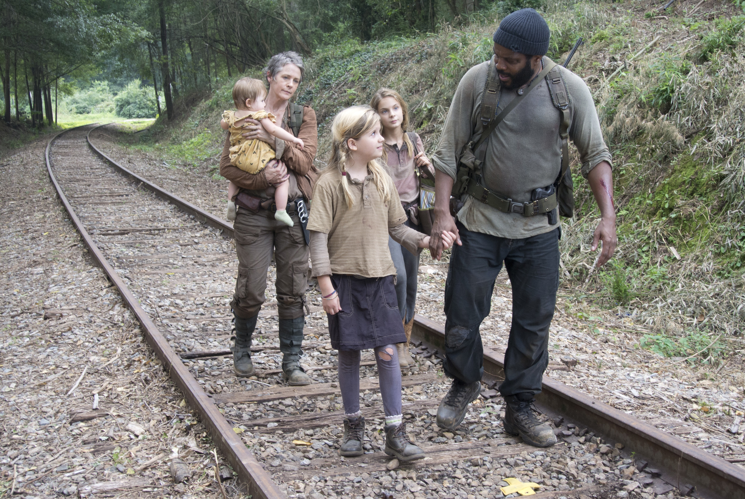 Carol, Judith, Lizzie, Mika, and Tyreese.