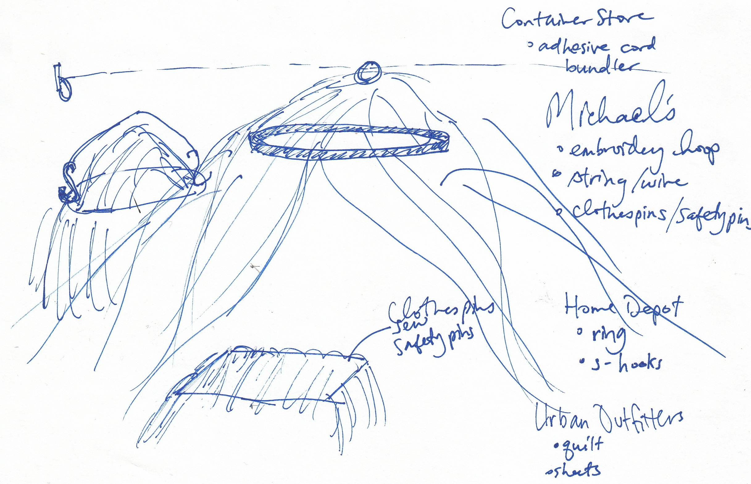 Nhu-An's original vision of our blanket fort.