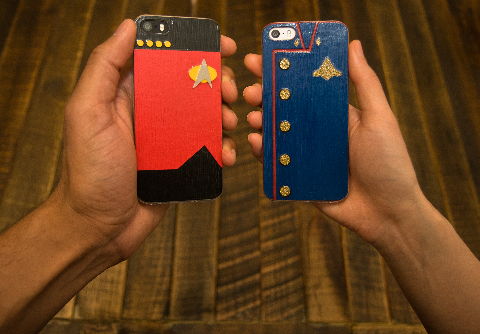 Our his and hers scifi iPhone cases.