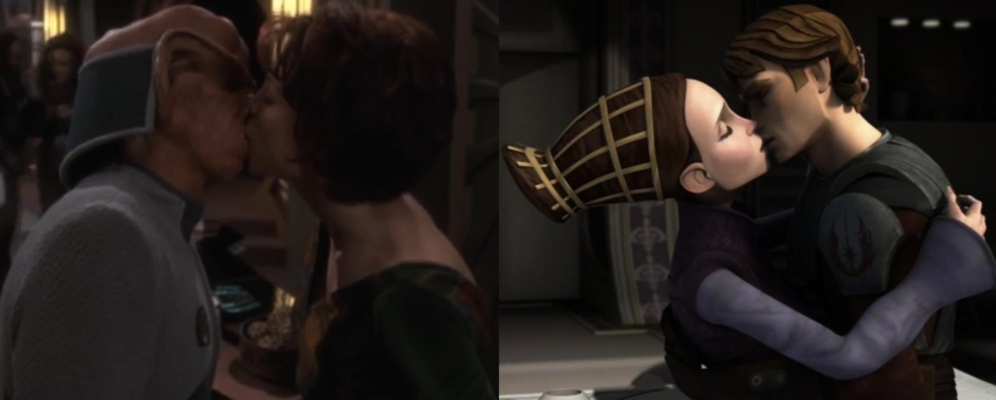 Star Trek's Leeta and Rom, Star Wars's Padme and Anakin