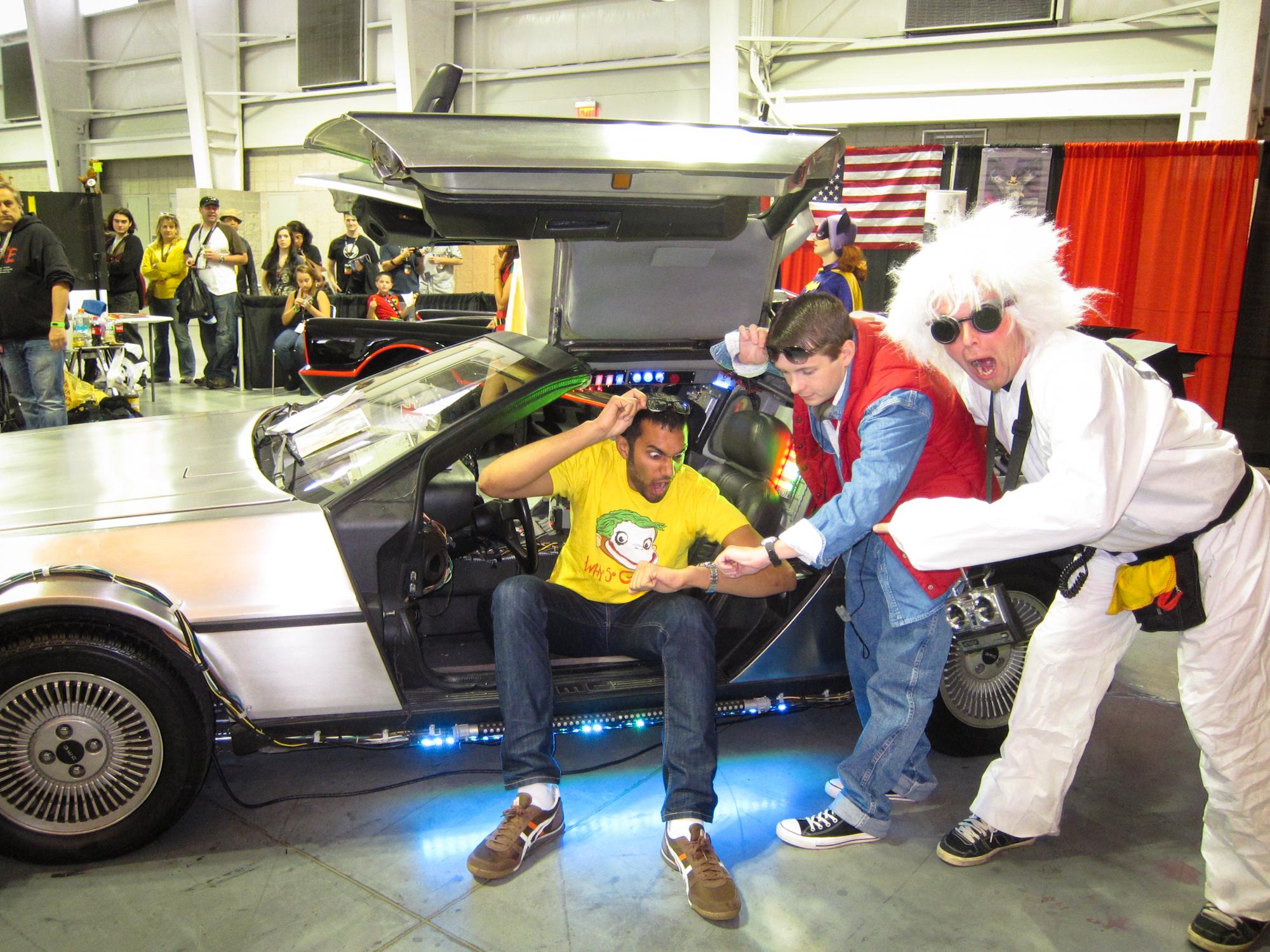 A replica of the Back to the Future Delorean, New York Comic Con 2011