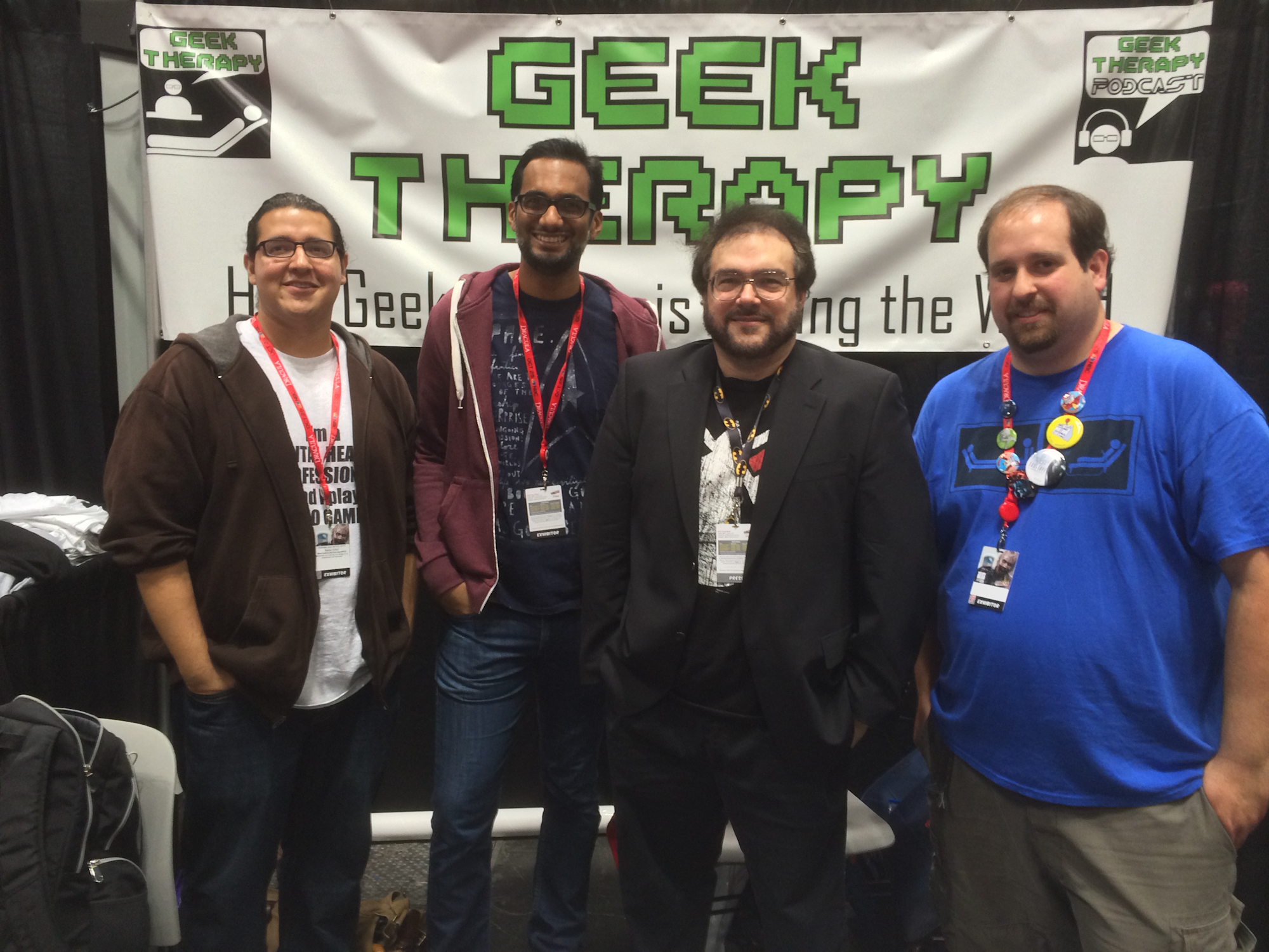 Hanging out with the Cortex Crusaders Josué Cardona, Travis Langley, and Steve Kuniak at New York Comic Con 2013.