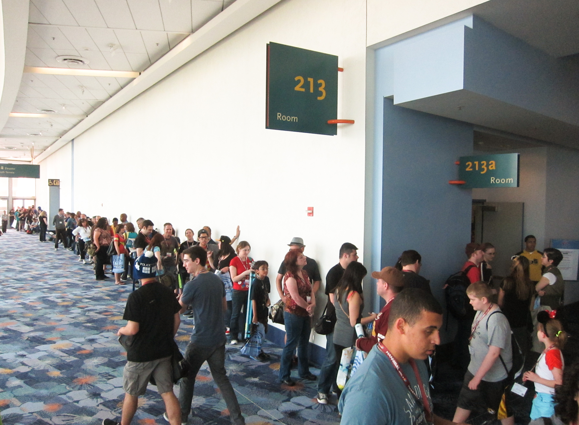 Everything  at a comic-con has a long wait. WonderCon 2013.