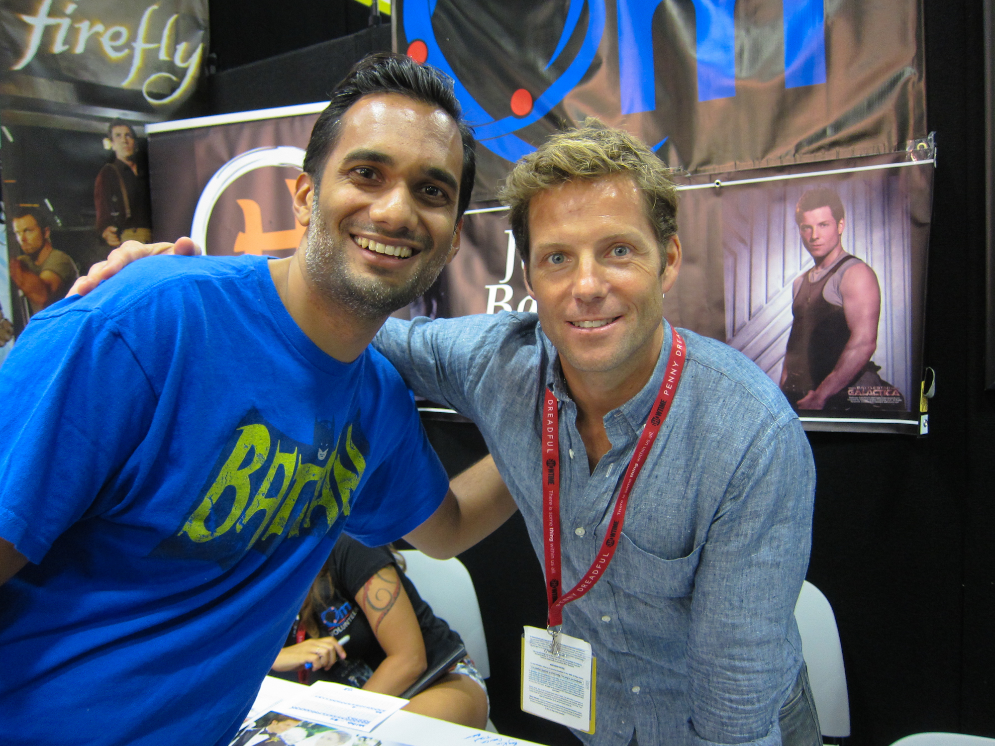 Jamie Bamber at San Diego Comic Con 2014