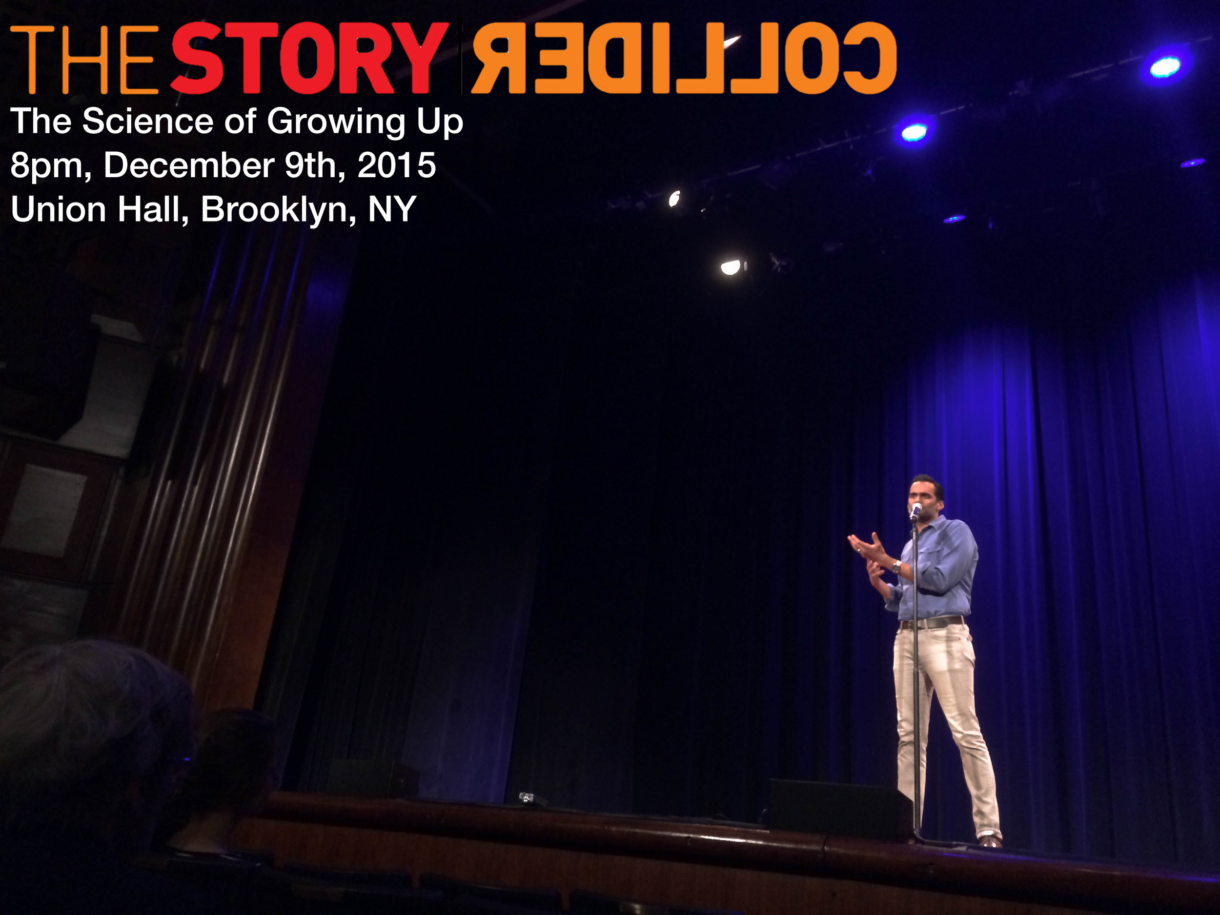 Ali Mattu at The Story Collider, The Science of Growing Up, Brooklyn, New York