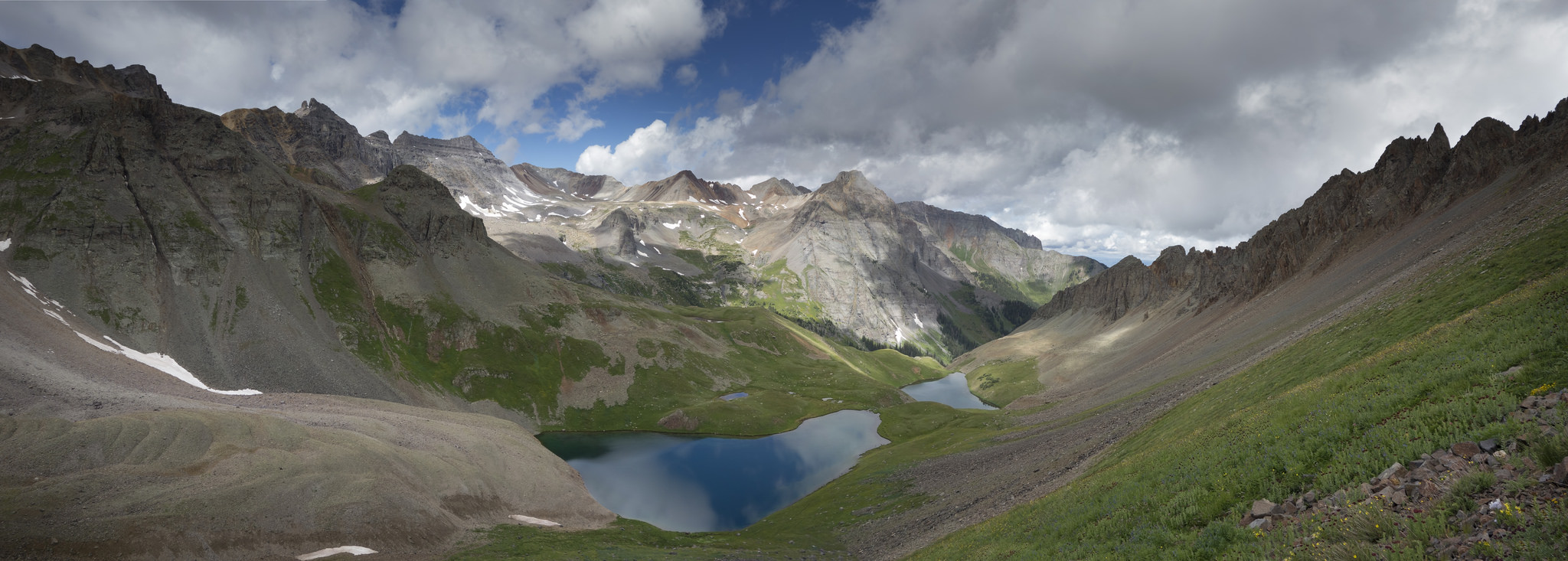 Blue Lakes in the San Juans of Colorado shot with an f stop of 9