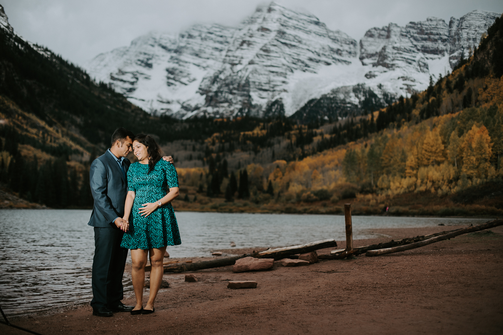 Priyanka And Aniket S Maroon Bells Engagement Couloir