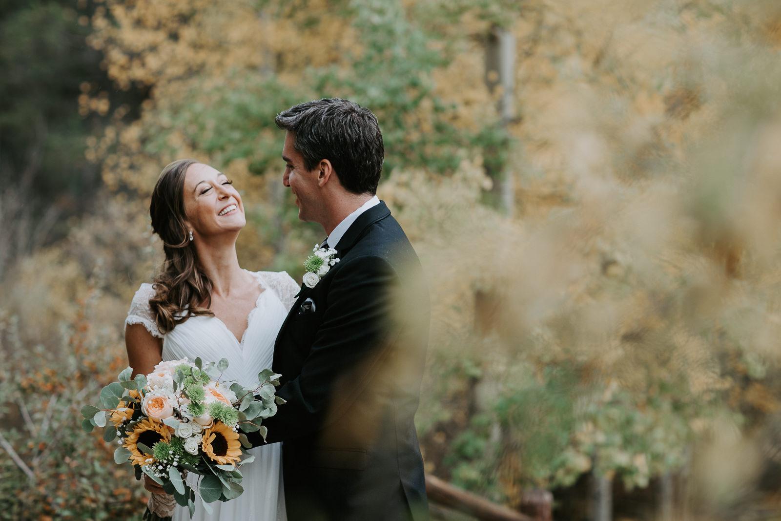 Quaking Aspen Amphitheater wedding fall colors Keystone Colorado leaves