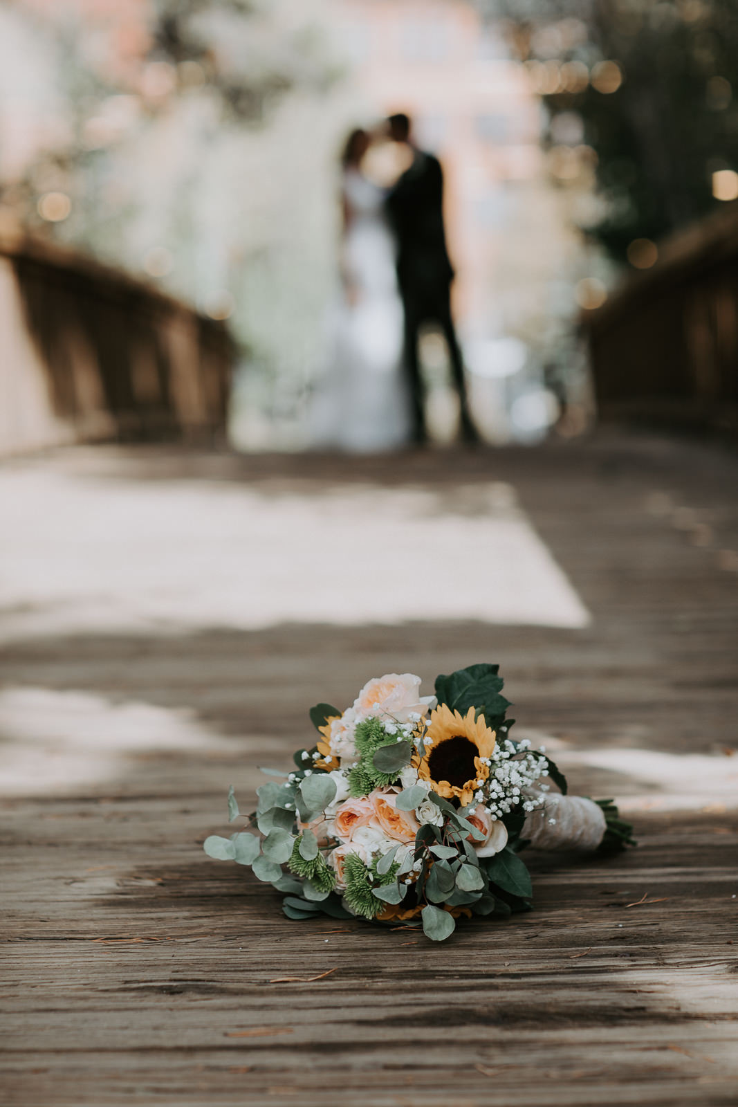 Fall bouquet during wedding