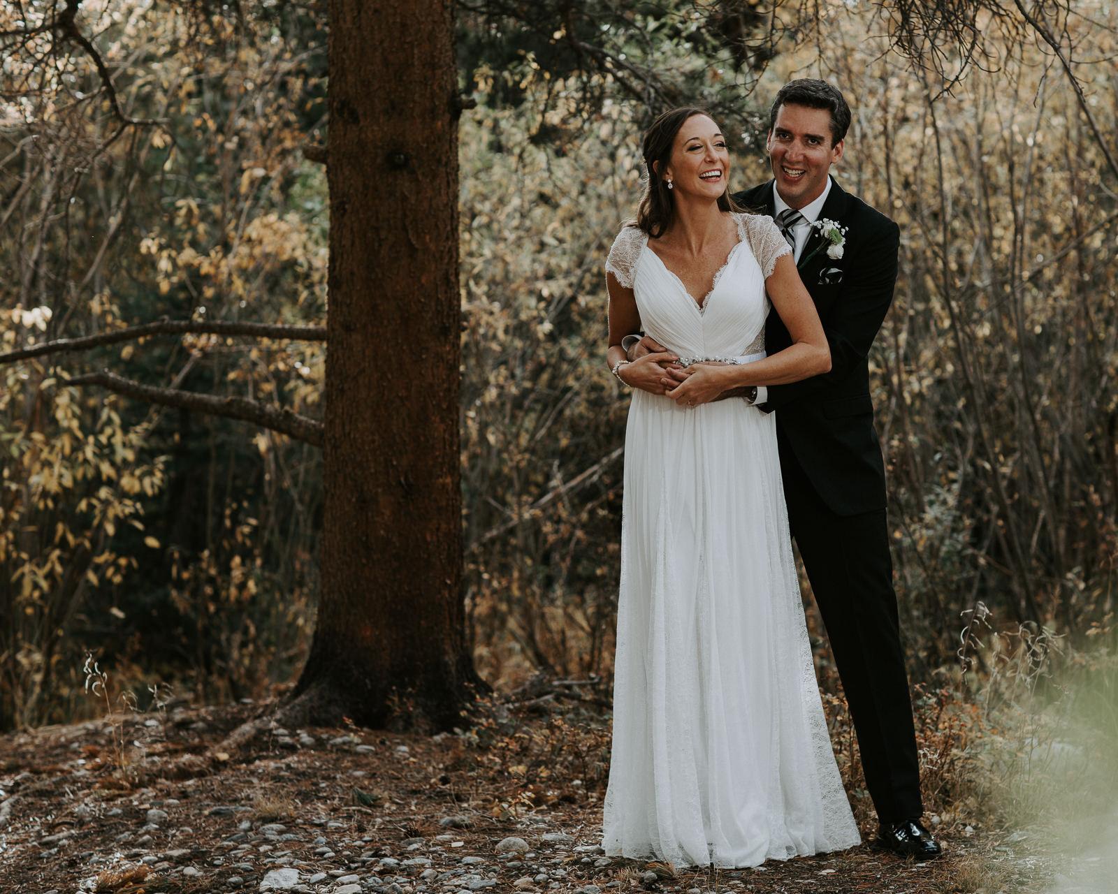Quaking Aspen Amphitheater wedding fall colors Keystone Colorado