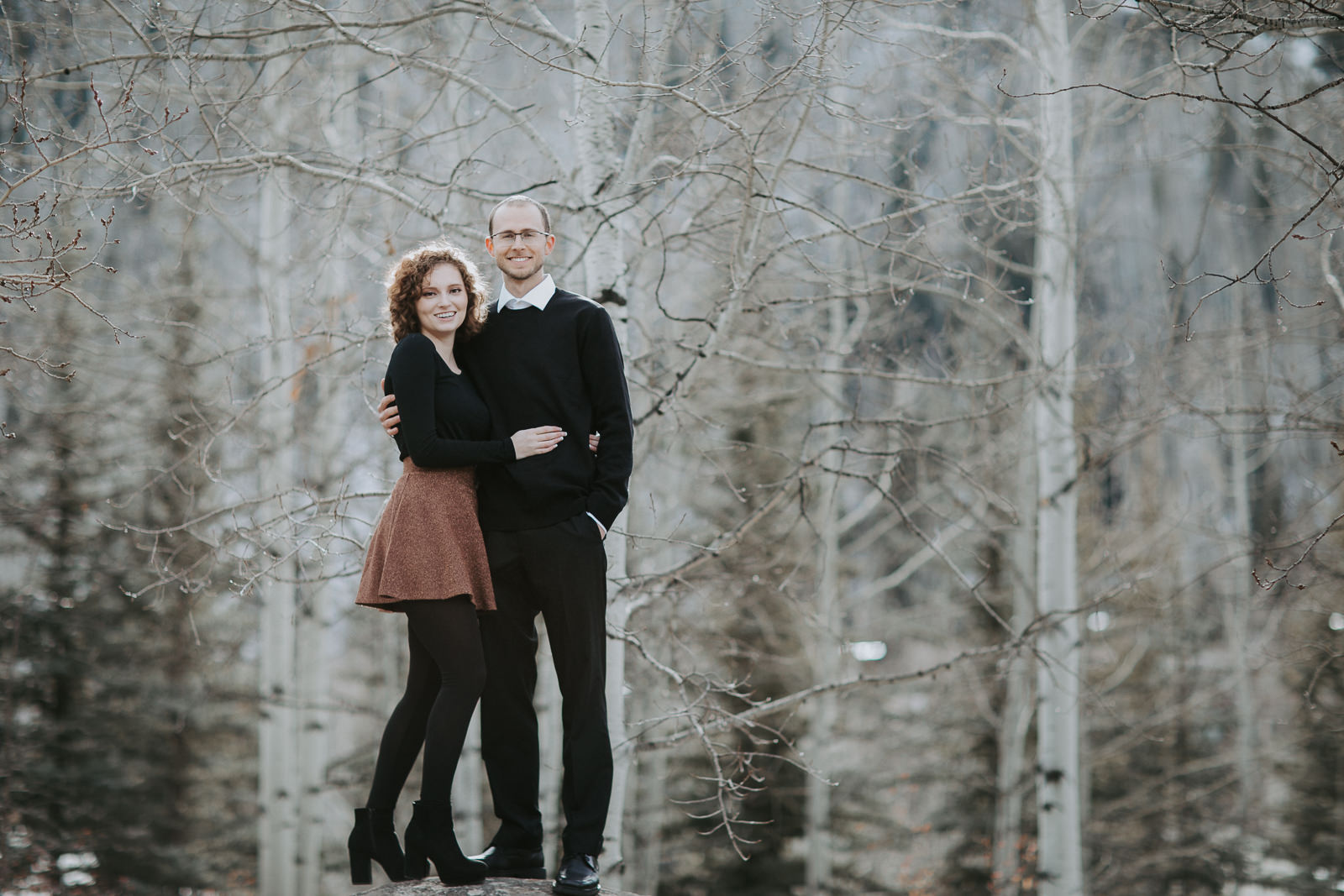 Vail Colorado Engagement Aspen Trees