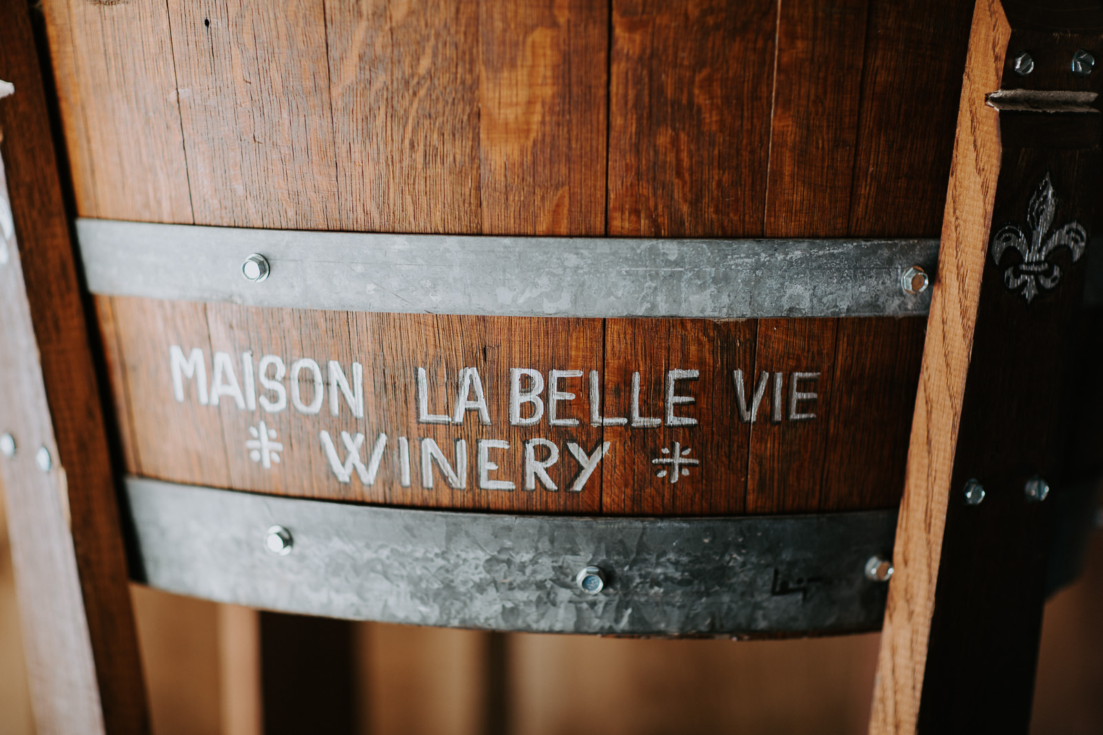 wedding details winery barrels shoes flowers signs Palisade Colorado