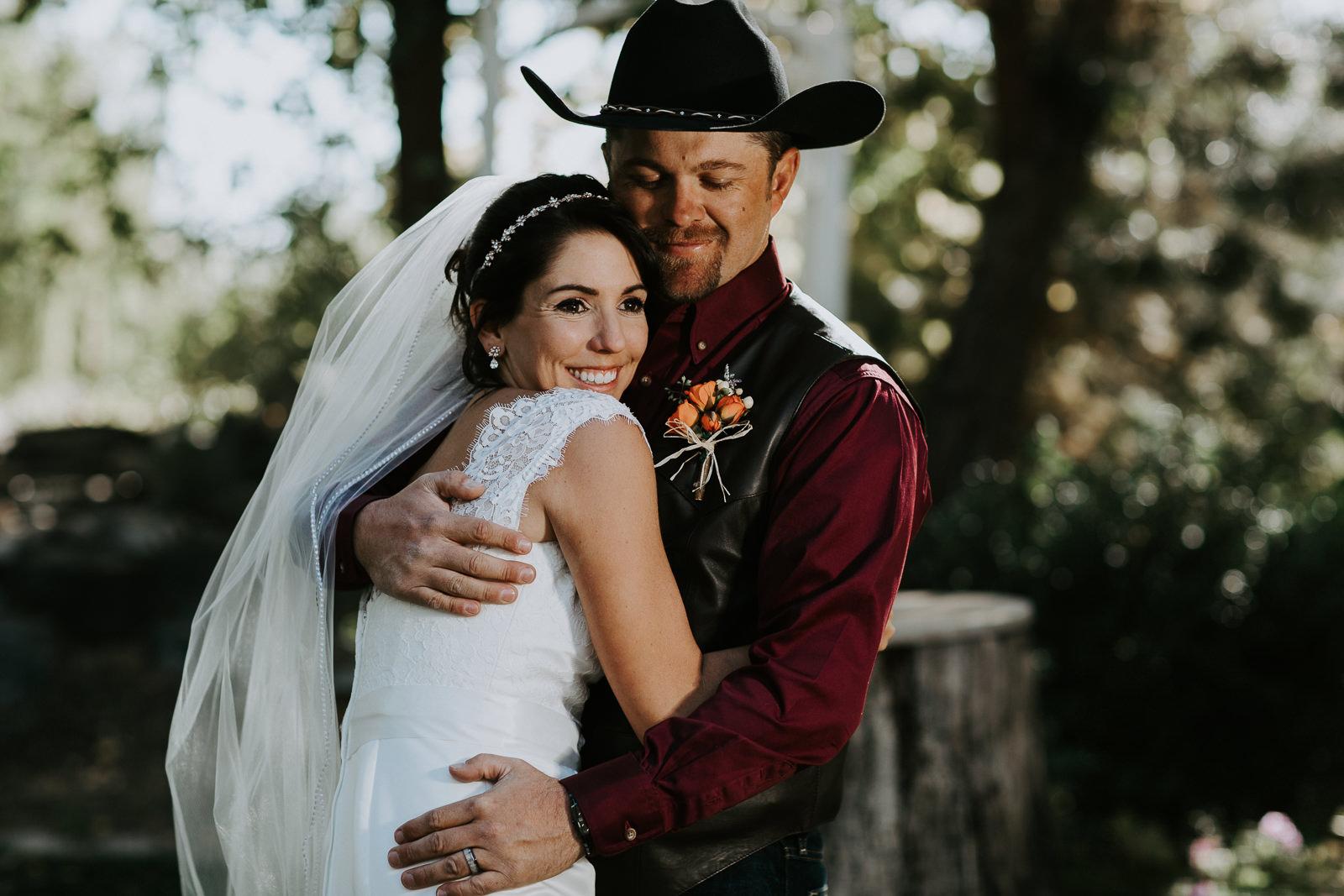 bride groom portrait wedding Palisade Colorado