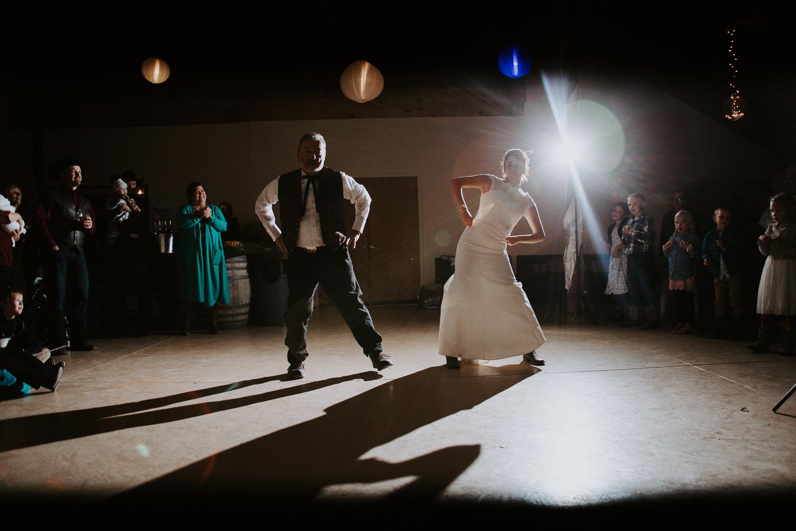 bride groom portrait wedding dancing father daughter dance