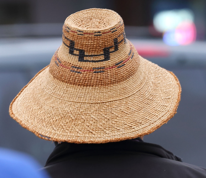 Alaska Native woven hat Wrangell