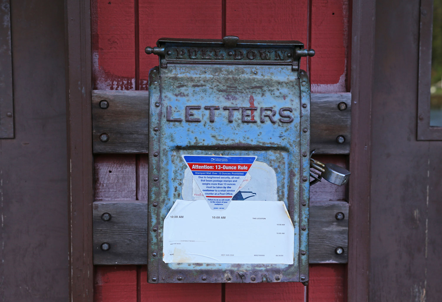 The mailbox at Point Baker