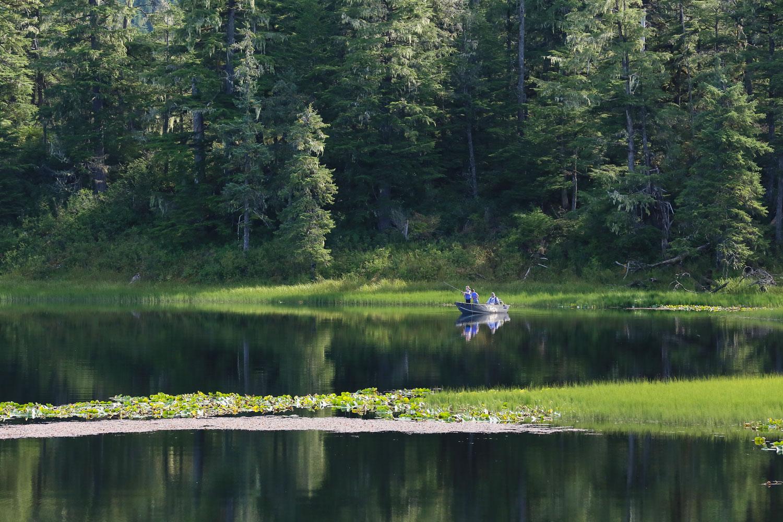 Kids fishing at Pat's Lake