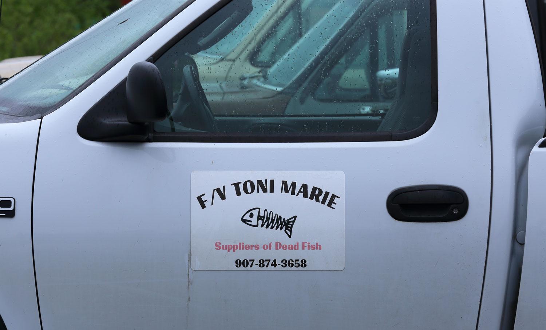 Fishing Vessel Toni Marie's sign