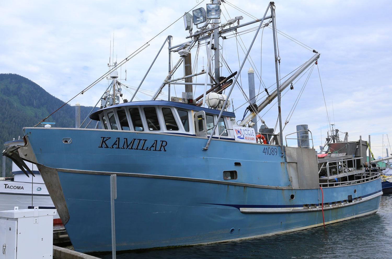 Kamilar fishing boat longliner tender Southeast Alaska