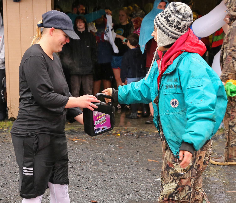 Polar Bear Club swim prize drawing Wrangell Alaska 2014
