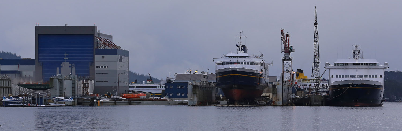 Alaska Marine Highways ferries Matanuska and Kennecott at Alaska Ship and Drydock in Ketchikan.