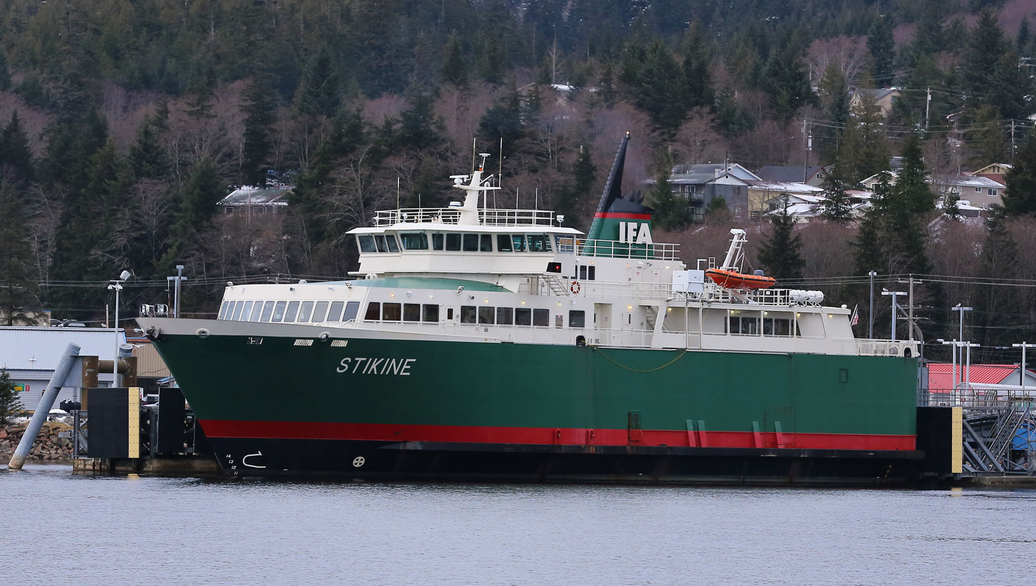 The Interisland Ferry Authority M/V Stikine getting ready to depart for Hollis on Prince of Wales Island.
