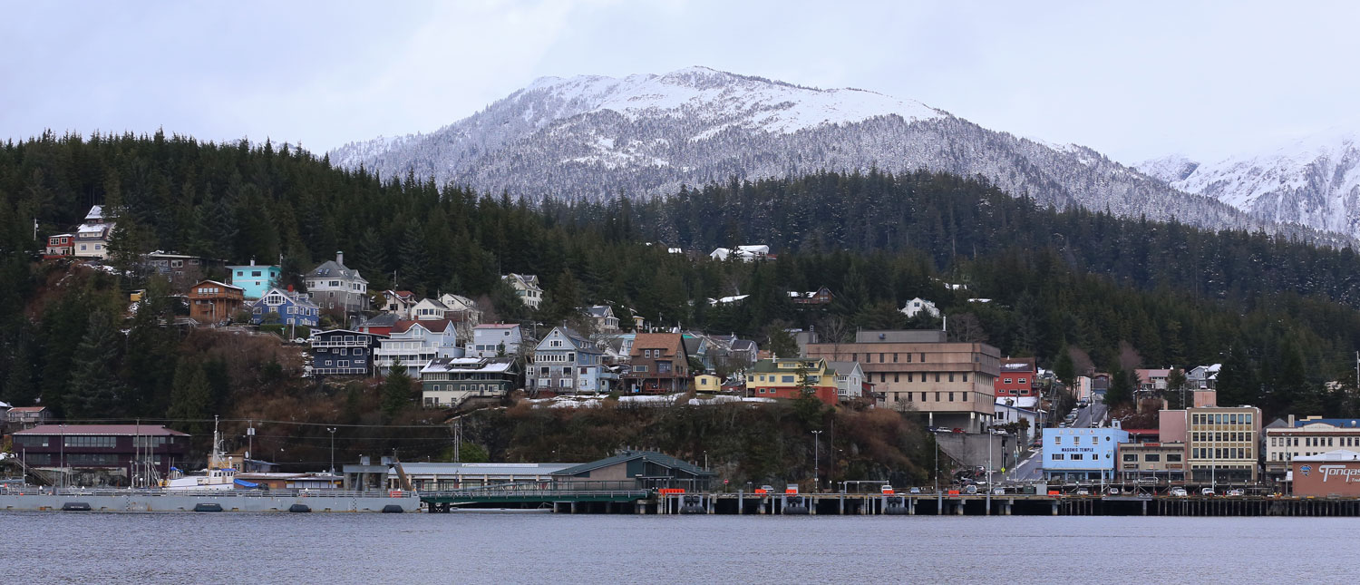 A little of the Ketchikan waterfront.