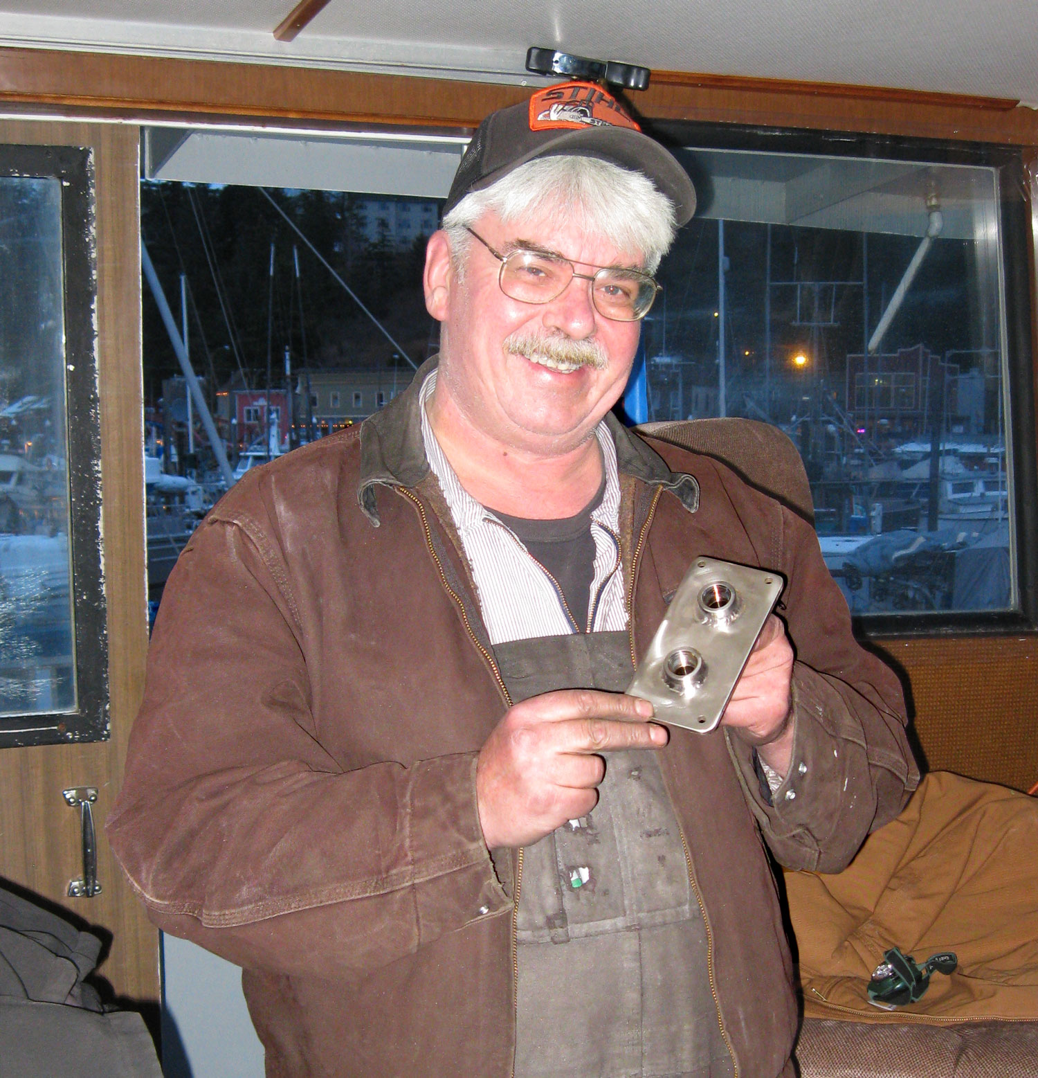 Meet Harley Bray. He is a great, good-natured guy, who installed the hydraulic pump, tank fittings, and lots more!