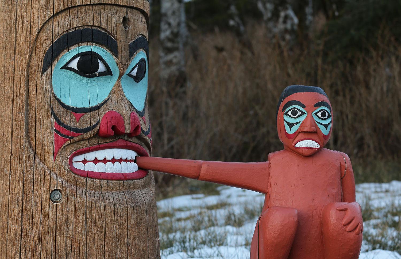 Totem Pole Saxman Native Village Alaska