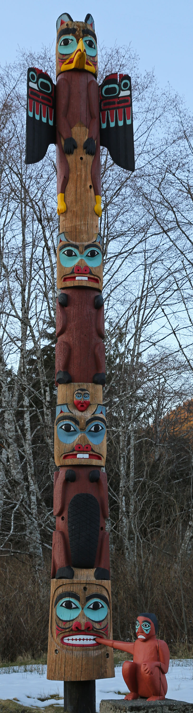 Saxman Native Village Totem pole Alaska