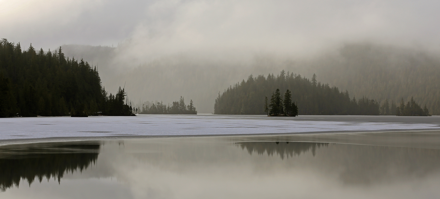 Neck Lake, near Whale Pass is thawing.