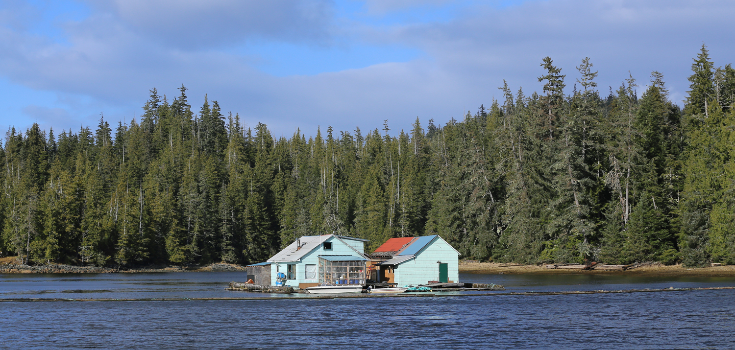 Floathouse with greenhouse Thorne Bay Southeast Alaska