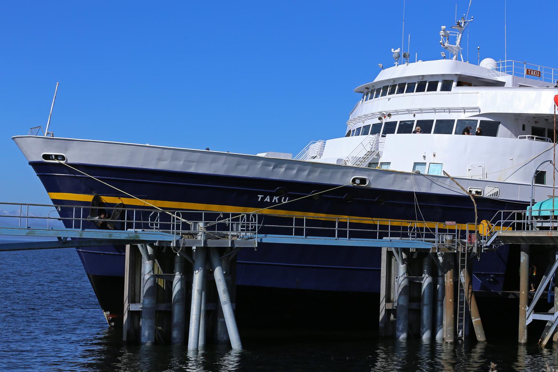 Alaska Marine Highways ferry M/V Taku in Wrangell