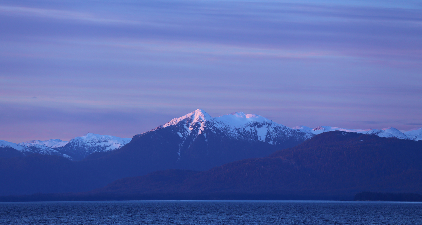 Evening scenery along Clarence Strait