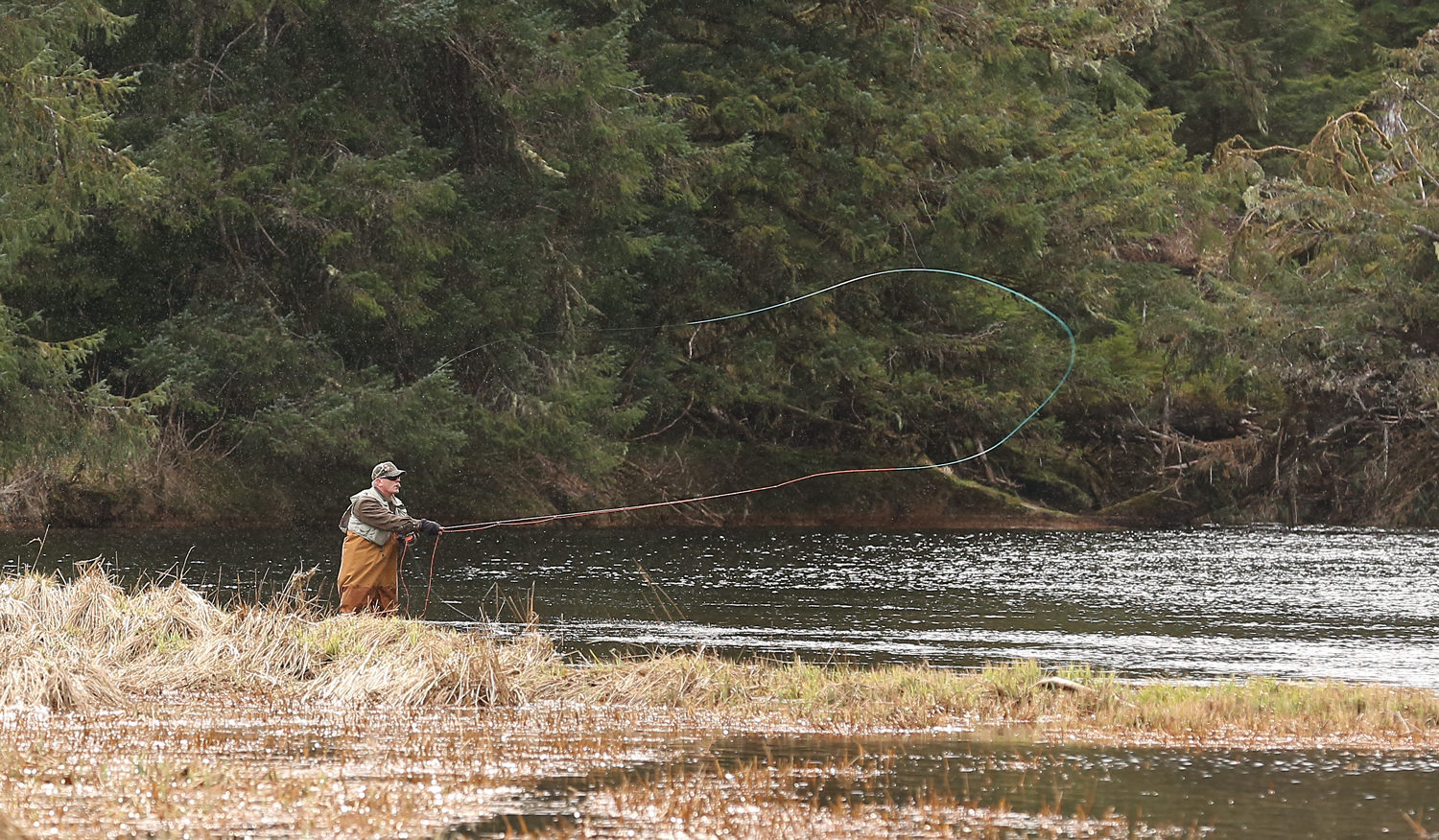 This fisherman nodded approval when I hand signaled a request to photograph him. Thank you, Fly Fisherman!