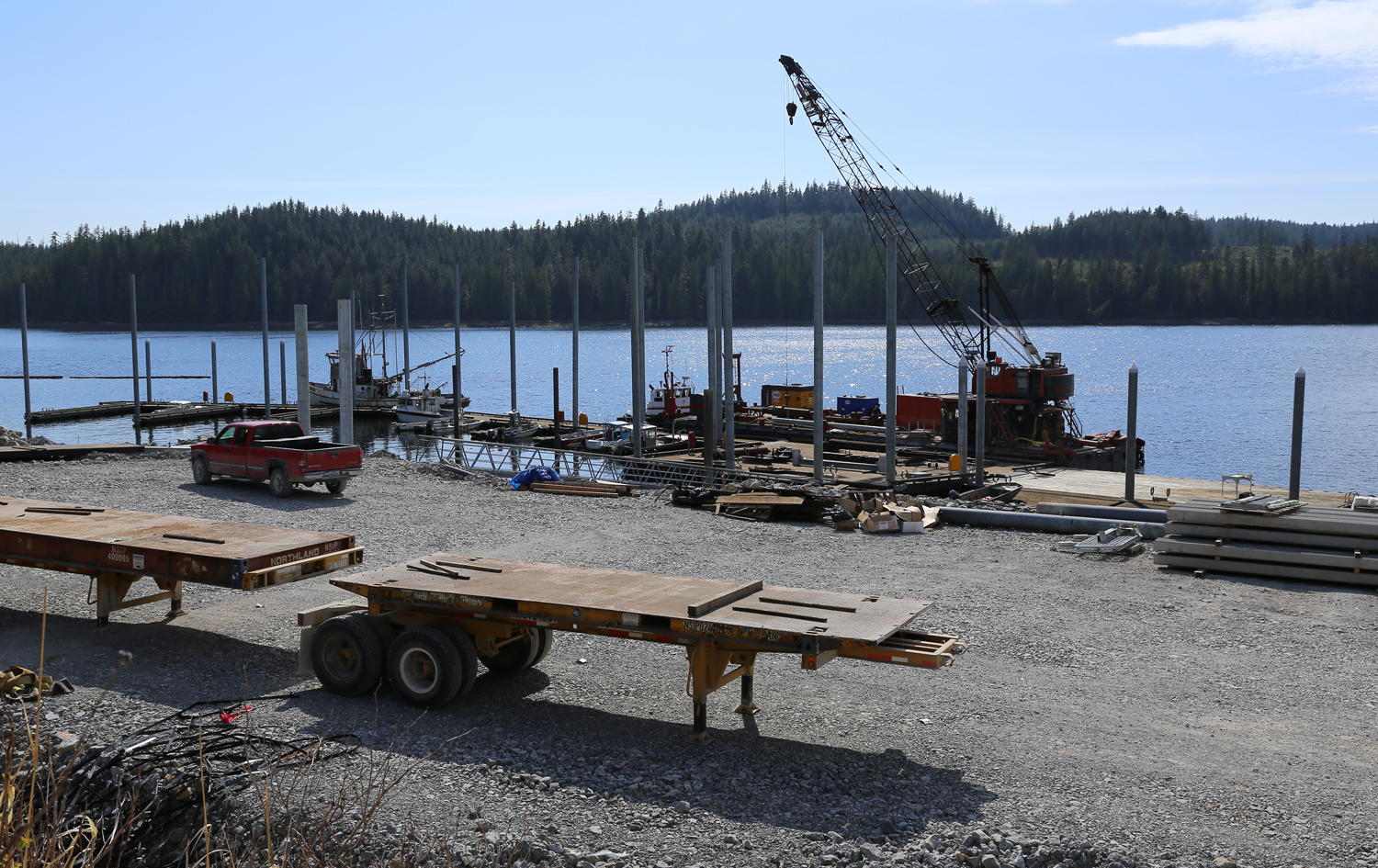 Along with the dock there is an upgraded parking lot.