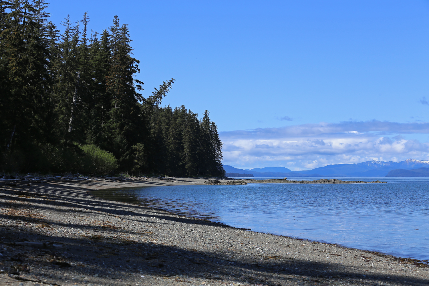 Memorial Beach on the north end of Prince of Wales Island in Southeast Alaska.