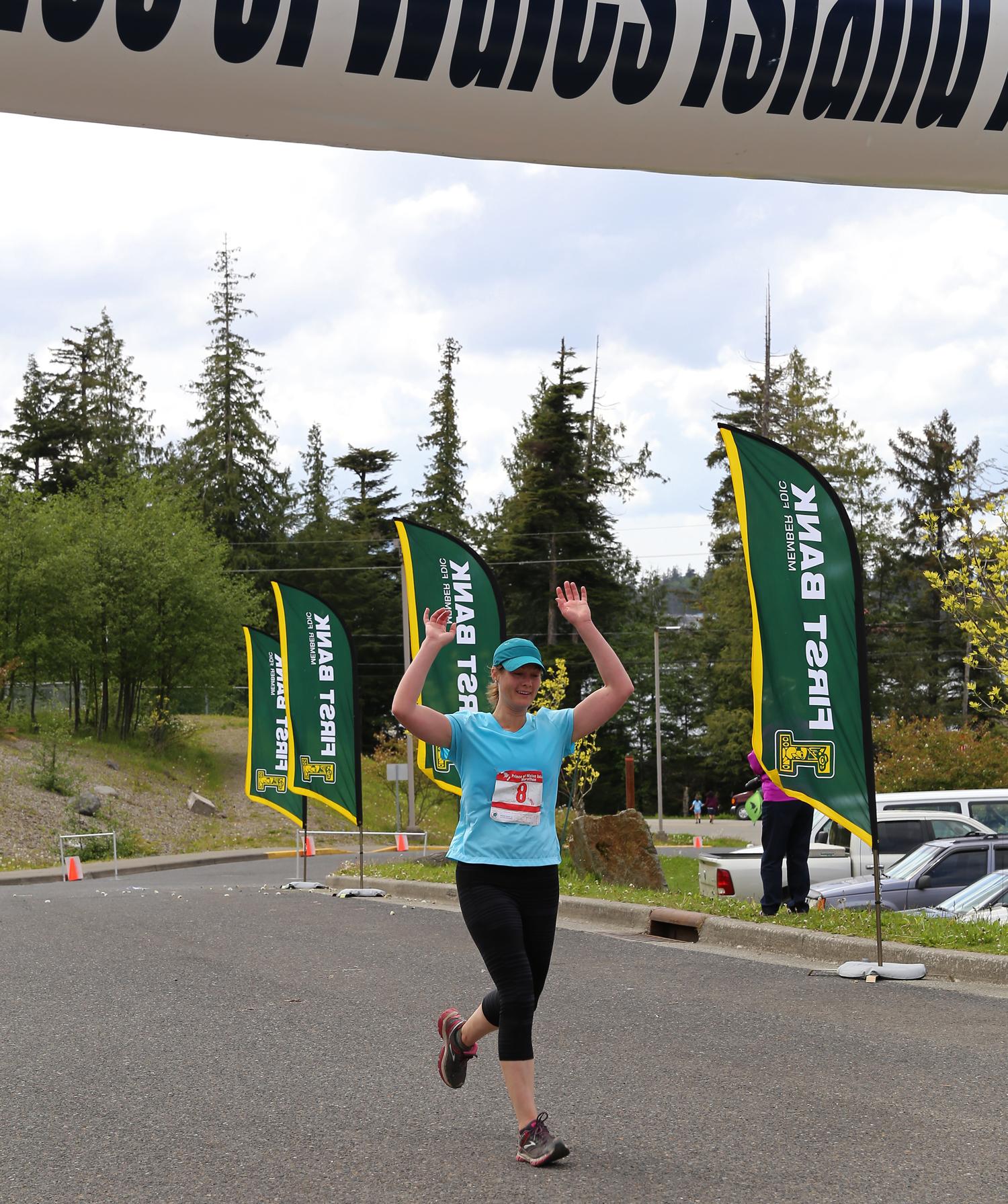 Prince of Wales Island Marathon finish line 2014