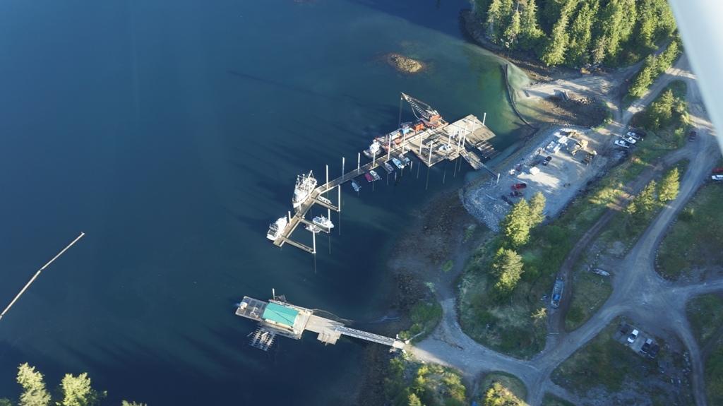 The new dock at Naukati Bay. Photo by, and courtesy of,  Island Air Express.