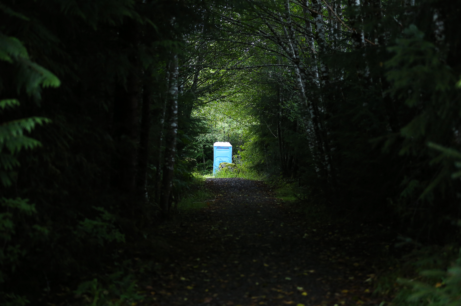 light at end of tunnel outhouse southeast alaska