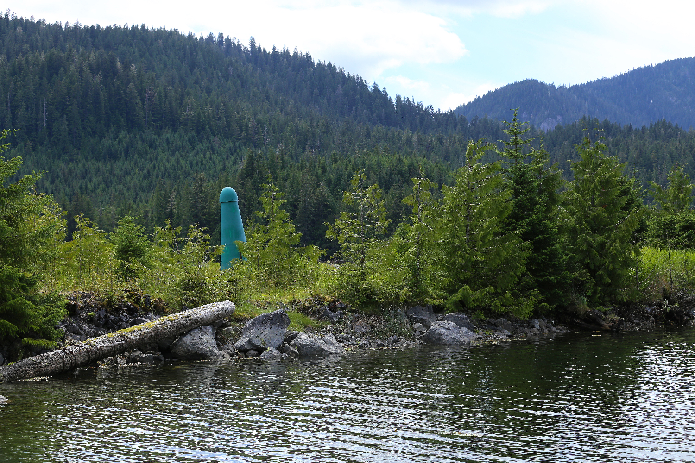 big green thing giant phallic symbol Southeast Alaska