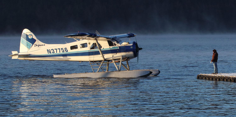 de Havilland Beaver floatplane at airplane float Thorne Bay Southeast Alaska