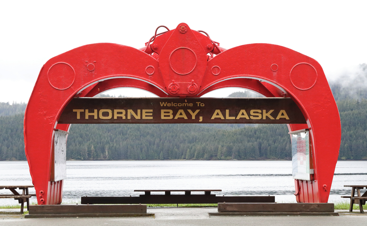 Thorne Bay Alaska logging grapple the claw Prince of Wales Island