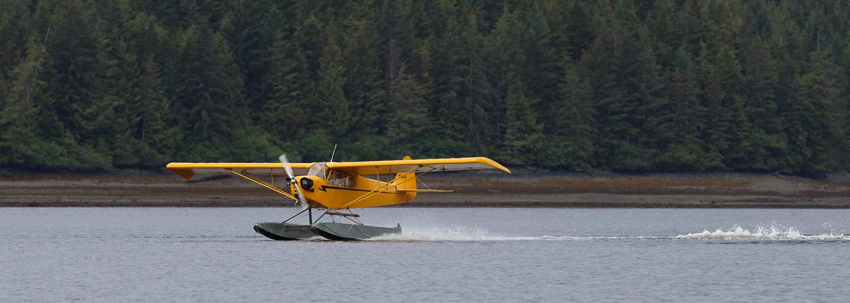 J3 Cub on landing in Alaska