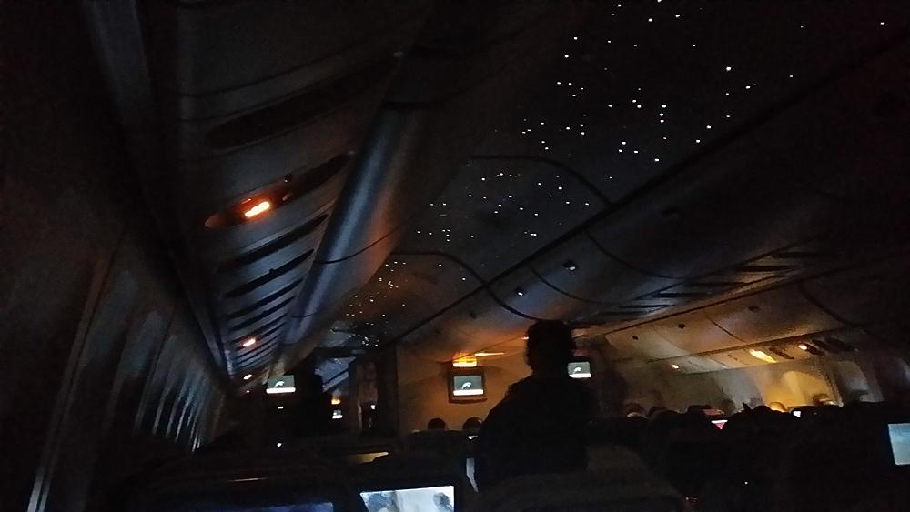 Starry Night, on board 777-300ER