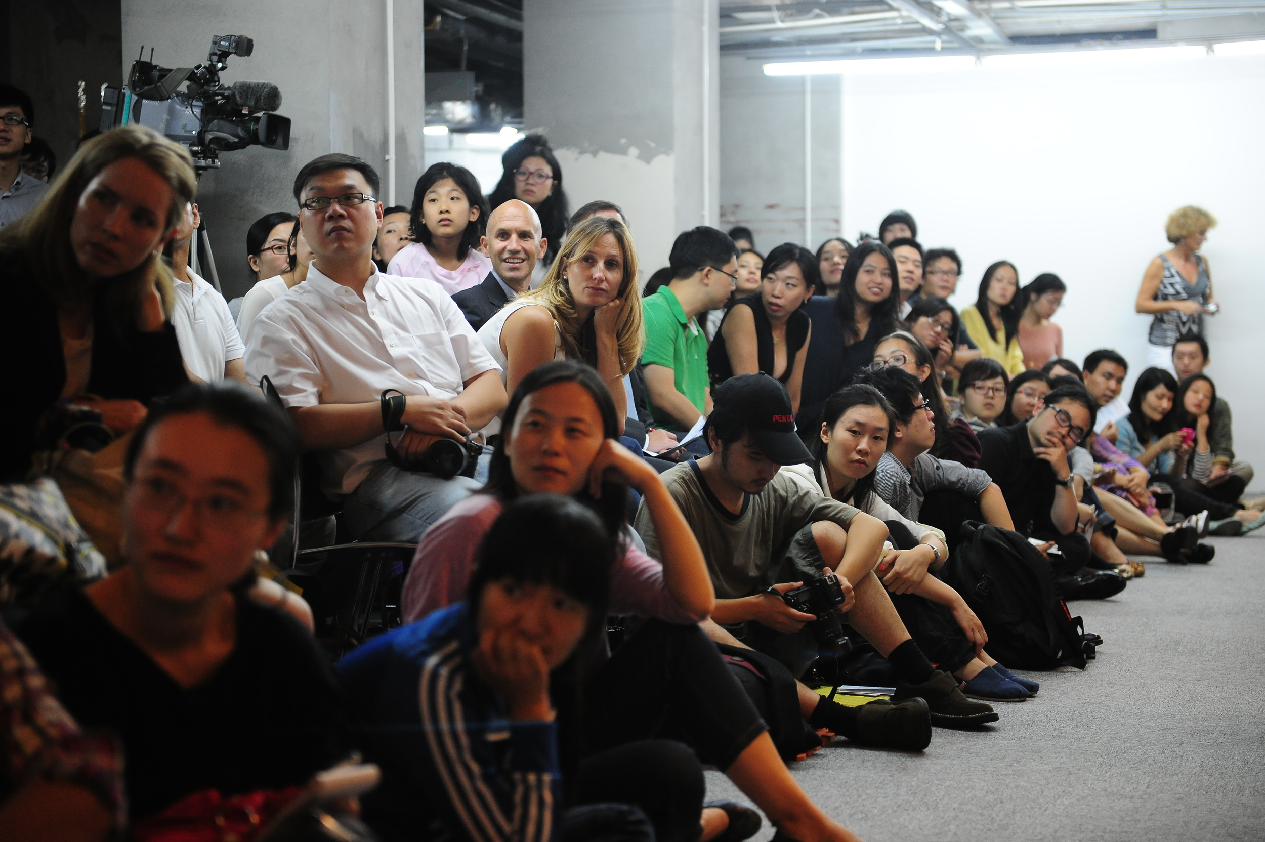 The audience were totally immersed into the performance.