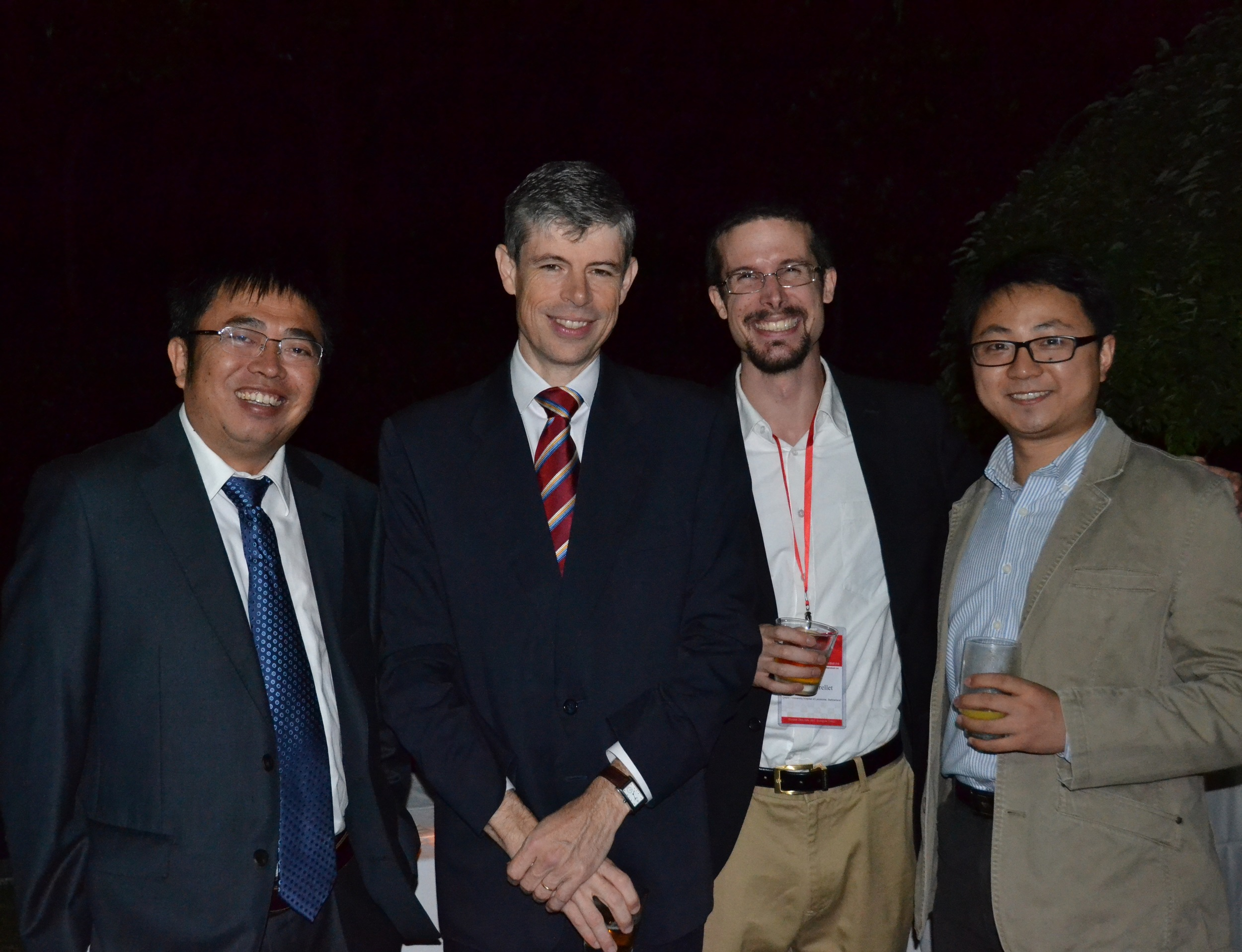 Mr.  Heinrich Schellenberg  , the Consul General of Switzerland in  Shanghai (second from the left), with the guests.