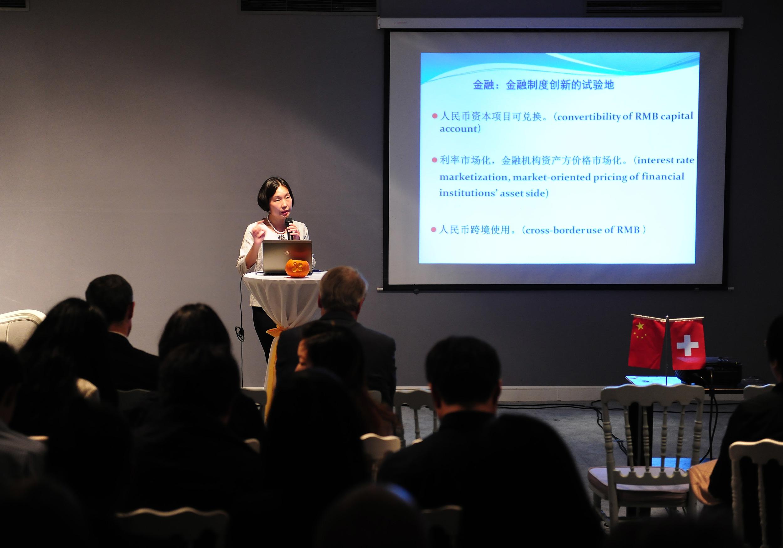Guest speaker Dr. Yejing Huang, Shanghai Academy of Social Sciences.