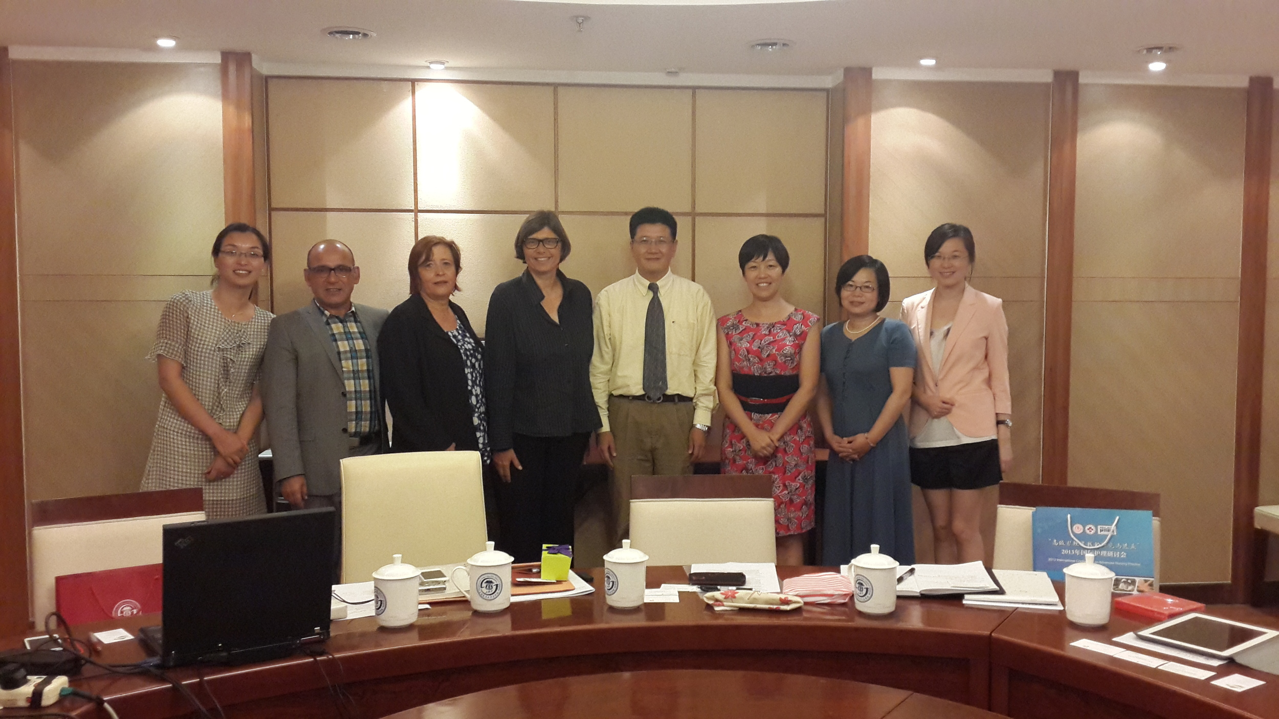 The Vaud delegation in School of Medicine, Shanghai Jiao Tong University